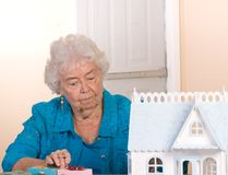 Senior citizen working Stock Photography