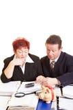 Senior citizens checking tax return Stock Photos