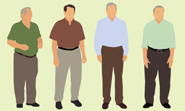 Senior Citizens. Four male senior citizens wearing business casual clothes royalty free illustration