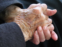 Senior citizens' hands Stock Image
