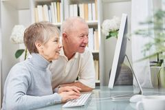Free Senior Citizens Look PC With Curiosity Stock Photography - 149262582