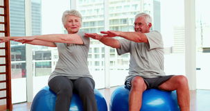 Senior citizens working out Royalty Free Stock Images
