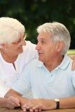 Senior complicity. Closeup of happy senior couple royalty free stock photo