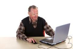 Senior with computer Royalty Free Stock Photo