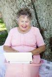 Senior Computing Fun Royalty Free Stock Images