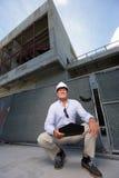 Senior construction contractor Royalty Free Stock Photos