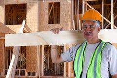 Senior Construction Foreman. Senior minority construction worker on the job site royalty free stock images