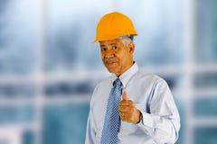 Senior Construction Foreman. Senior minority construction worker on the job site stock photography