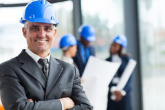 Senior construction manager Royalty Free Stock Photos