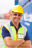 Senior container worker Royalty Free Stock Photography