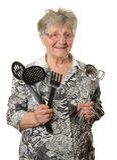 Senior cook Stock Photography