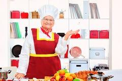 Senior cook Royalty Free Stock Photo