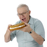 Senior Cookie Monster stock photos