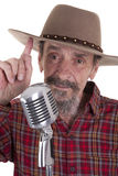 Senior country singer Royalty Free Stock Photos