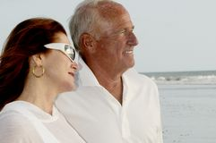 Senior Couple. In their retired years enjoying the evening Stock Image