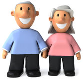 Senior couple stock illustration