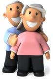 Senior couple stock illustration