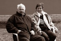 A senior couple Stock Photo