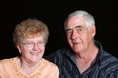 Senior Couple. Portrait of a senior couple in their mid to late sixties stock images