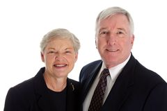 Senior Couple. Set Against A White Background royalty free stock images
