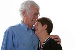 Senior couple. Looking happy together Stock Images