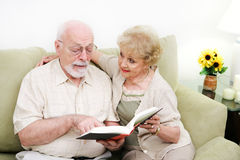 Senior Couple Adult Literacy Stock Image