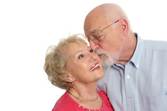 Senior Couple - Affectionate Stock Photography