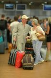Senior couple  at the airport Royalty Free Stock Image