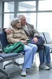 Senior couple at airport Royalty Free Stock Images