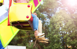 Senior couple in amusement park Royalty Free Stock Images