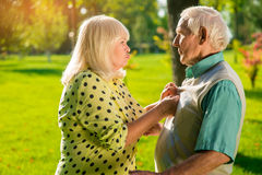 Senior couple is arguing. Stock Photography