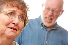 Senior Couple in an Argument Stock Images
