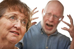 Senior Couple in an Argument Royalty Free Stock Image