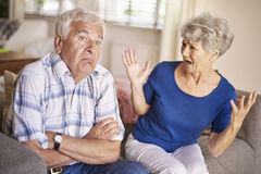 Senior couple in argument Stock Image