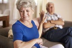 Senior couple in argument Royalty Free Stock Photos