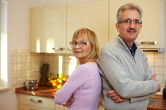 Senior couple with arms crossed Royalty Free Stock Images