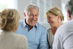 Senior couple attending group therapy. Couple attending group therapy together Stock Photography