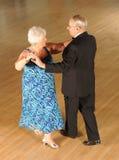 Senior couple ballroom dancing Stock Photography