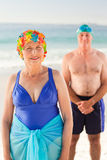 Senior couple at the beach Royalty Free Stock Image