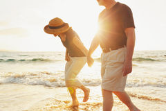 Senior Couple at the Beach royalty free stock photo