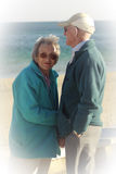 Senior couple on the beach Royalty Free Stock Photography