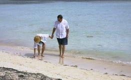 Senior couple on beach. Active attractive senior couple on beach Stock Image