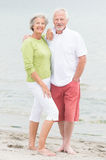 Senior couple at the beach Stock Image
