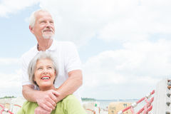 Senior couple at beach Royalty Free Stock Images