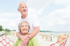 Senior couple at beach Stock Photo