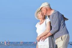 Senior couple at the beach Stock Photos