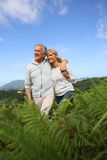 Senior couple on a beautiful hiking day Royalty Free Stock Photo
