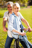 Senior couple bicycle Stock Image