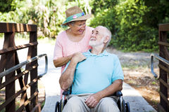 Senior Couple - Caretaker Royalty Free Stock Image