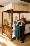 Senior couple celebrating Royalty Free Stock Photography